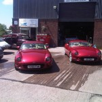 TVR's – One we repaired electrical issues and running problems, the other we repaired paintwork.