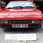We repaired the front end of this classic Ferrari Mondial following a front end collision.
